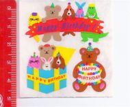 HAPPY BIRTHDAY Puppies  80s Sandylion Canada sticker adesive kawaii