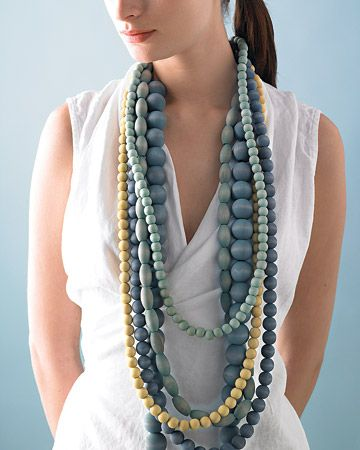 wooden beads necklaces #marthastewart
