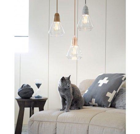 Ando 1 Light Pendant in Copper/Glass   Modern Pendants   Pendant Lights   Lighting