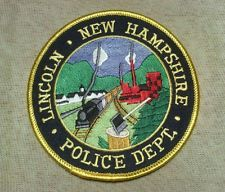 Lincoln New Hampshire Police Patch