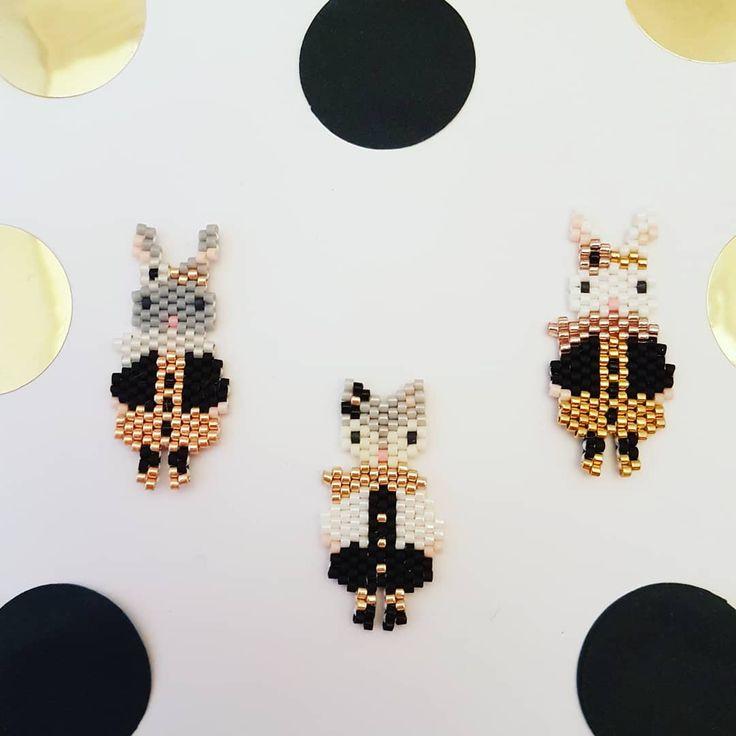 Oh !!! Quelle sont belles ces petites Lapinettes en tissage miyuki !!!