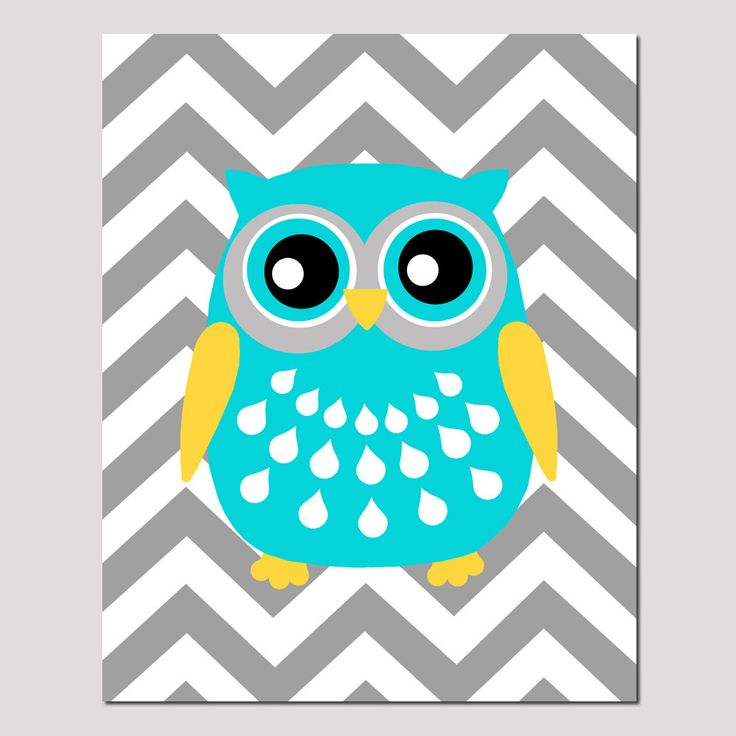 467 best owl obsession images on pinterest owls owl and barn owls modern chevron owl silhouette nursery art print 8x10 kids wall art choose your colors voltagebd Gallery