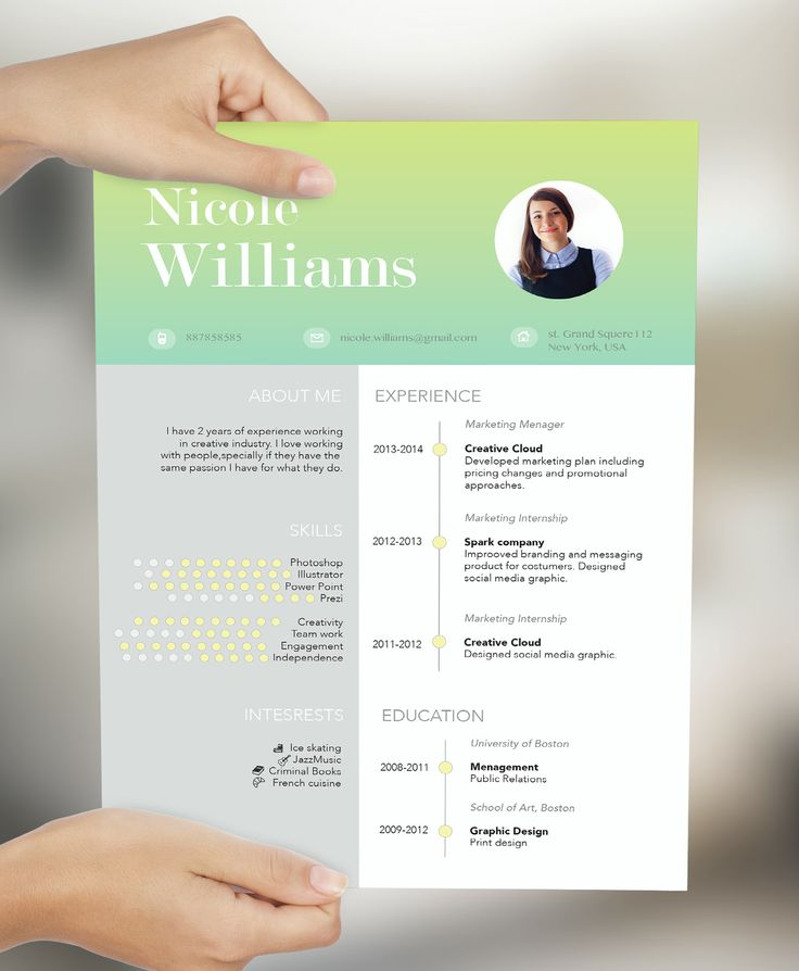 creative resume by cvdesign limitet version on fiverr only 5