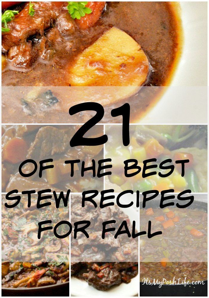 21 of the best FALL STEW Recipes