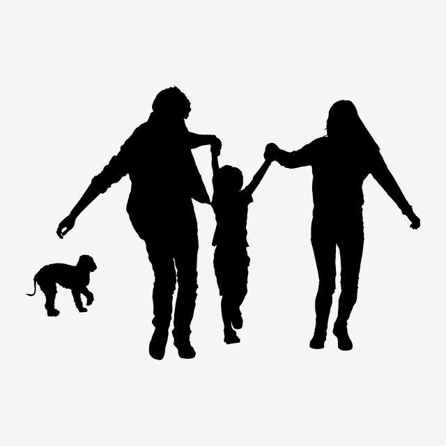 ممتع عائلة عائلة عائلة من ثلاثة صور المتجهات مع المواد Png Silhouette Family Family Cartoon Family Of Three