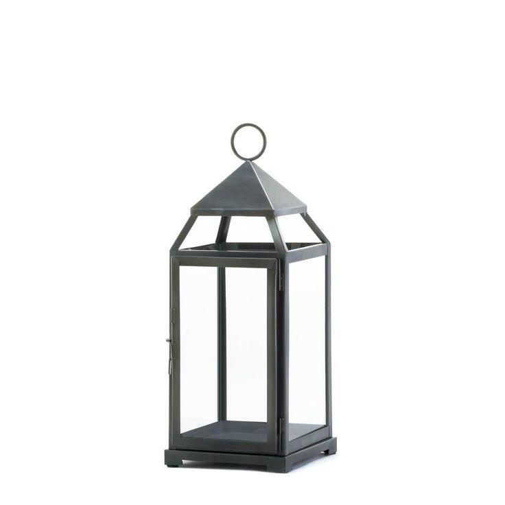 Large Rustic Silver Contemporary Lantern