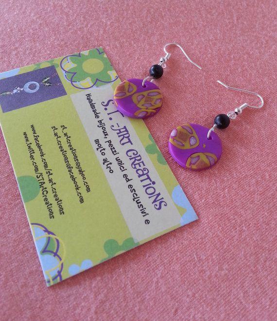 What a strange violet! (earrings)
