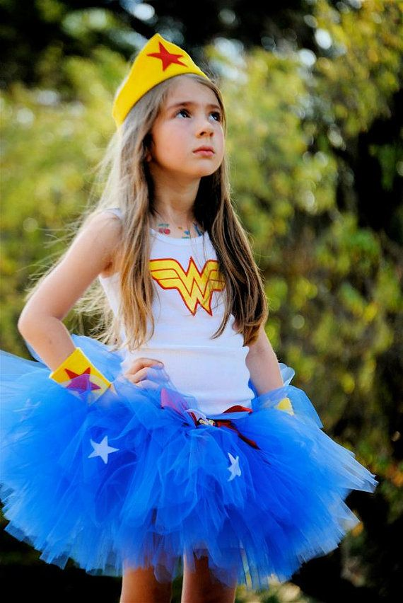 Wonder Woman Tutu Set - Great Super Hero Birthday Outfit