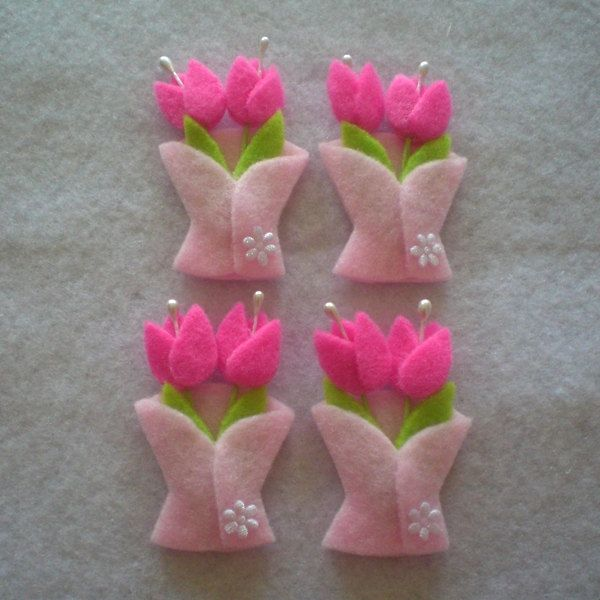 Tulip Felt Applique