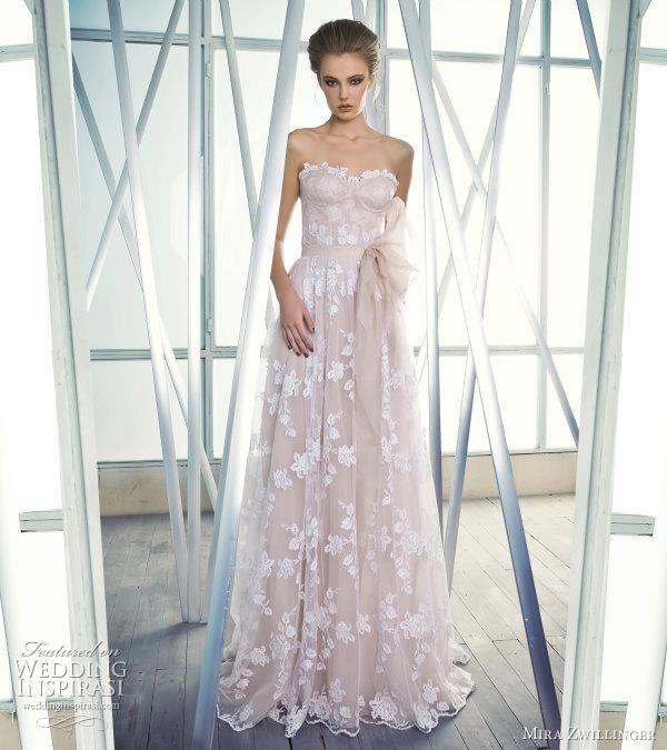 Mira zwillinger wedding dresses 2012 blushes wedding for Wedding dress with overlay