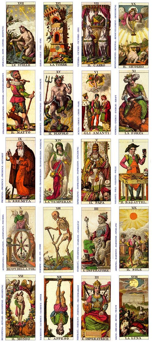 "...from the ""Ancient"" Italian Tarot"
