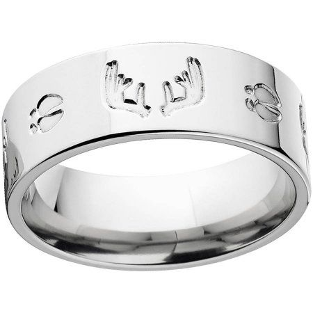 Men's Milled Track and Rack Durable 8mm Stainless Steel Wedding Band with Comfort Fit Design, Size: 10