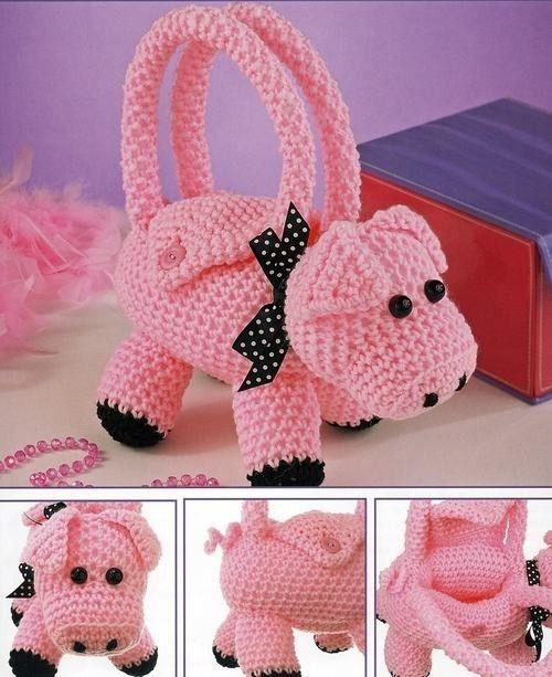 Girls Critter Animal Purses - Handbags Crochet Patterns
