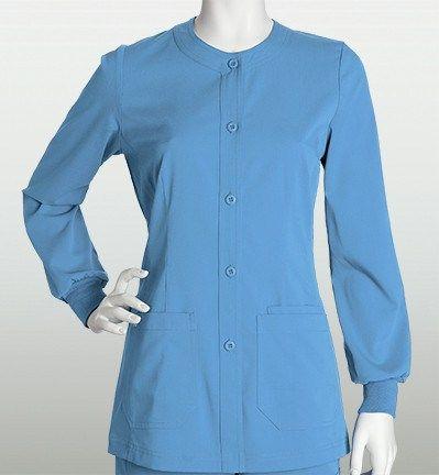 Barco NrG Womenu0027s Warm Up Solid Scrub Jacket   Ciel Blue   (Size M) | Scrub  Jackets And Products