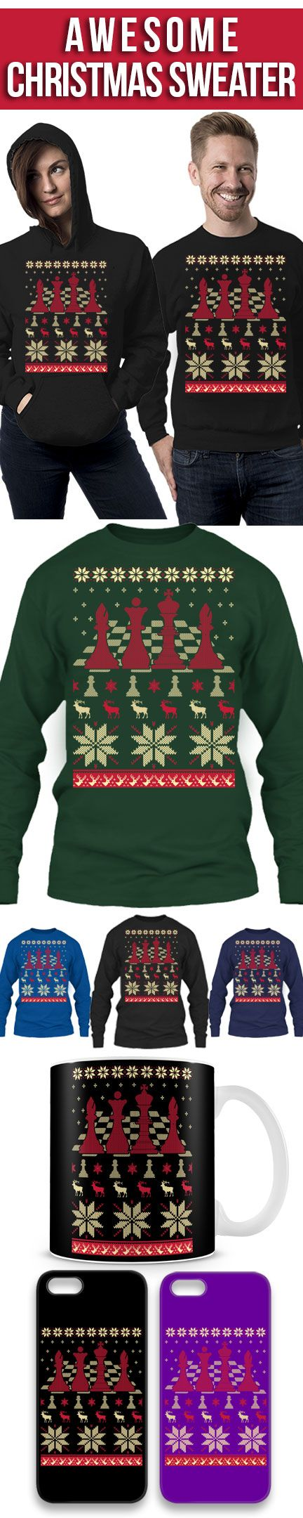 Chess Ugly Christmas Sweater! Click The Image To Buy It Now or Tag Someone You Want To Buy This For. #chess