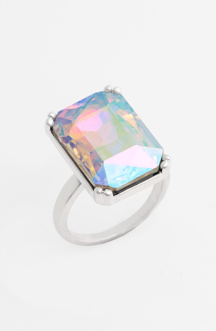 Love this oversized iridescent statement ring.