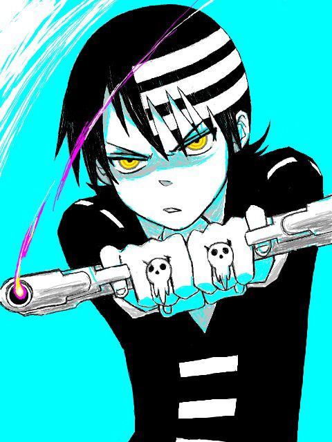 Death the Kid | Soul Eater... I love how he holds the guns he is amazing