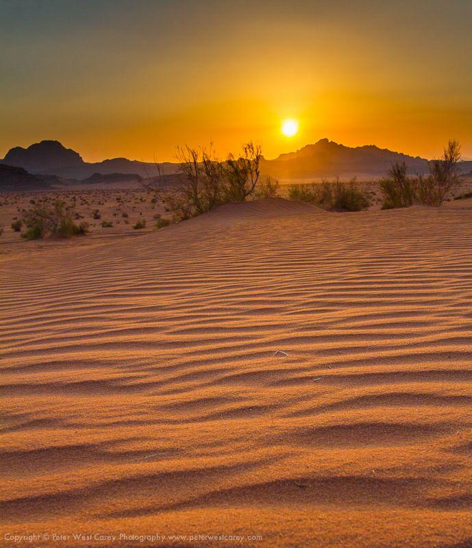 Wadi Rum Sunset     Wadi Rum, Jordan    Photograph Copyright Peter West Carey