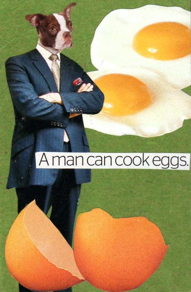 Took Gallagher, A man can cook eggs.