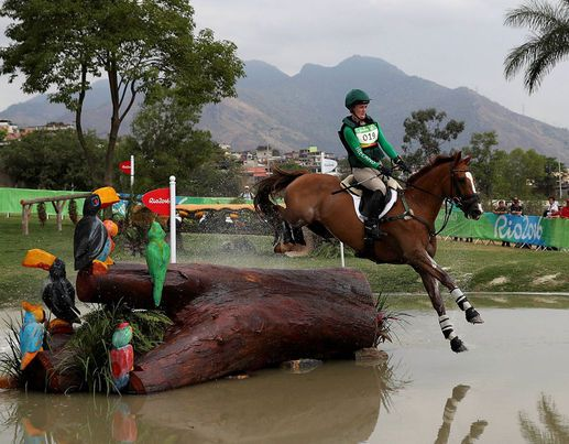 Ireland's Claire Abbott on Euro Prince during the Eventing Individual Cross Country held at the Olympic Equestrian Centre on the third day of the Rio Olympic Games, Brazil [PA]