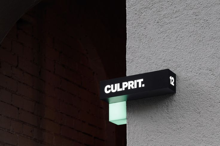 Culprit by Studio South, New Zealand. #branding #signage