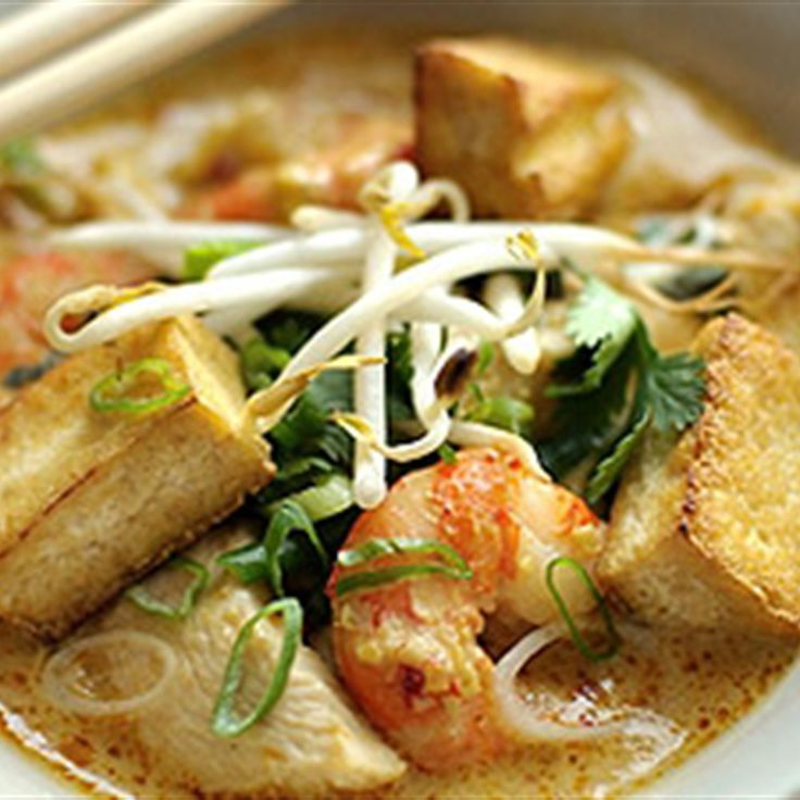Try this Kuala Lumpur Chicken and Prawn Curry Laksa recipe by Chef Rick Stein.