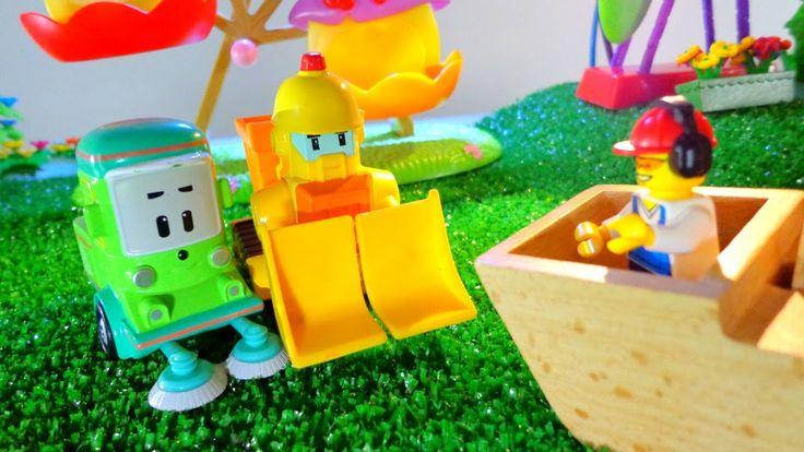 Видео для детей: ИГРЫ с МАШИНКАМИ Toys FOR kids Unboxing. Игрушки Робока...