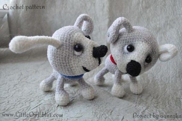 022 Puppy dog with wire frame - Amigurumi Crochet Pattern - PDF file by Pertseva
