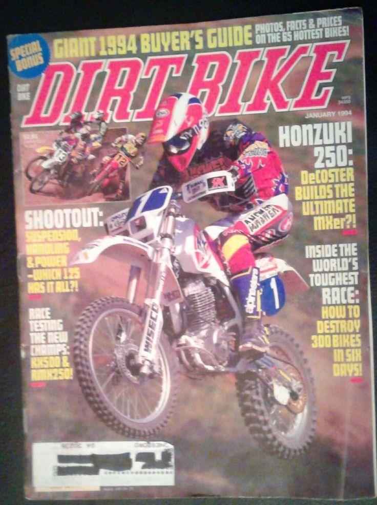 DIRT BIKE Magazine January 1994~Inside The World Toughest Race   Books, Magazine Back Issues   eBay!