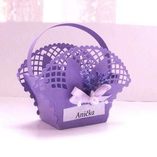 Jmenovka - košíček na dárek pro hosty (1)