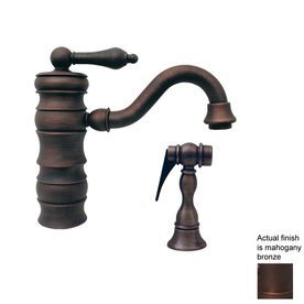 Whitehaus Collection Vintage Iii Mahogany Bronze 1-Handle Bar Faucet W