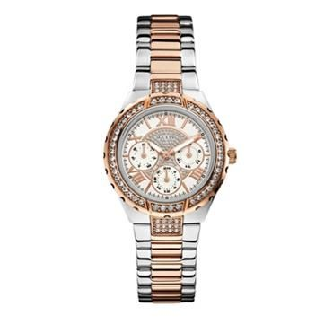 Ladies Viva Two Tone Watch With Stone Detail. http://www.sterns.co.za