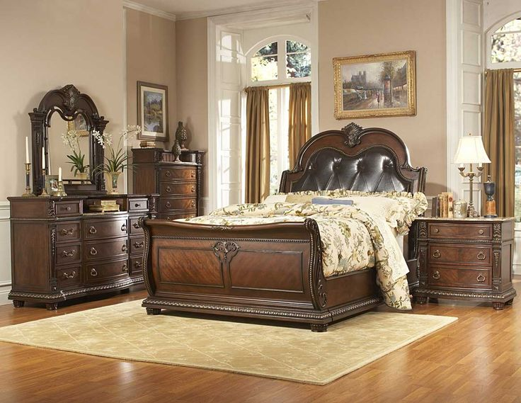 Homelegance Palace Bedroom Set, Rich Brown   Home Furniture Showroom