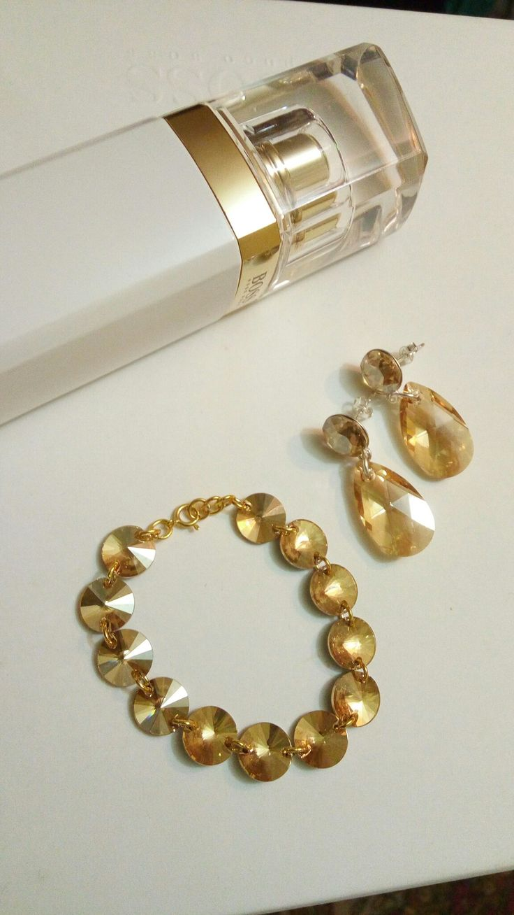 Swarovski earrings and bracelet made by FloflorinaJewelry