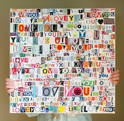 10 Awesome Canvas Projects....Mod Podge letters canvas for something amazing like tho for your walls!