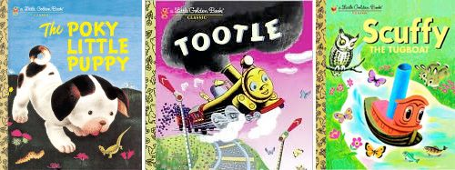 The History of Little Golden Books - Click on the pic to get a history of Golden Books. The Pokey Little Puppy was one of the original 12 books and was my kids' favorite for sure