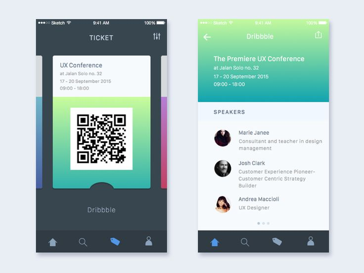 Dribbble - Event App by Anggit Yuniar Pradito