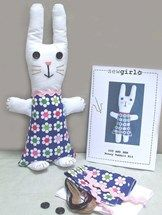 Make your own bunny plushy sew craft kit from www.whatalicefound.co.nz