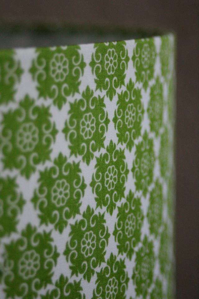 Lampenschirm grün gemustert