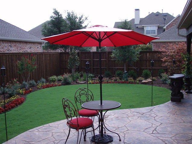 landscape around patio | Decorative Concrete PatioConcrete PatioBackyard CreationsCarrollton ...