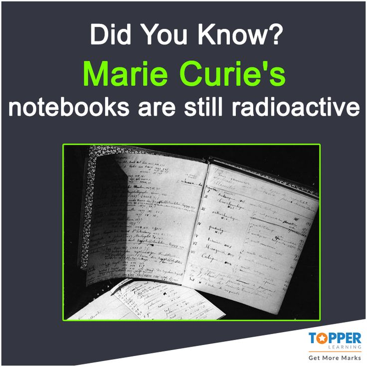 #DidYouKnow Marie Curie's notebooks are still radioactive ...