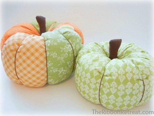 Free Easy Sew and No Sew Fabric Pumpkin Tutorials