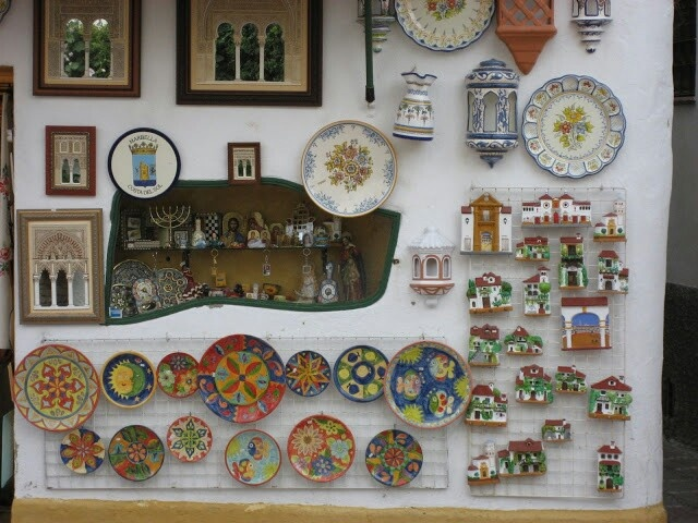 Some local pottery. Marbella's Old Town, Costa del Sol, Spain