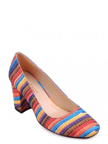 Női Magassarkú cipő TENDENZ - tarka