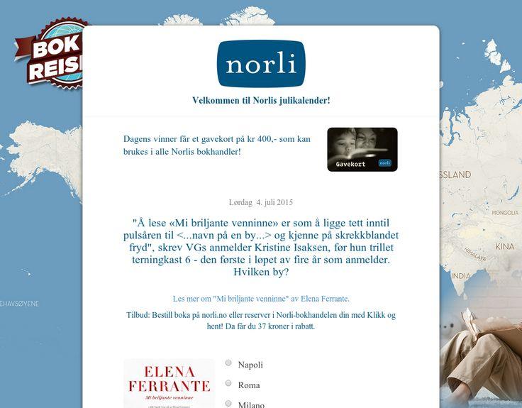 Blir du med på Norlis julikalender? Svar på spørsmål og vinn premier!