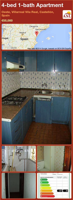 4-bed 1-bath Apartment in Oeste, Villarreal Vila Real, Castellón, Spain ►€55,000 #PropertyForSaleInSpain