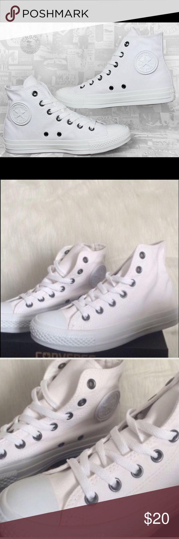 📍FLASH SALE📍CONVERSE WHITE WOMENS MONOCHROME WOMENS Converse Shoes Sneakers