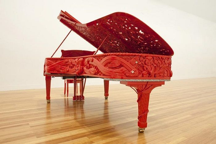 """Michael Parekowhai is designer of really unique pianos and other ""sculptures"" that will make all the difference in any place as they look so unusual. """