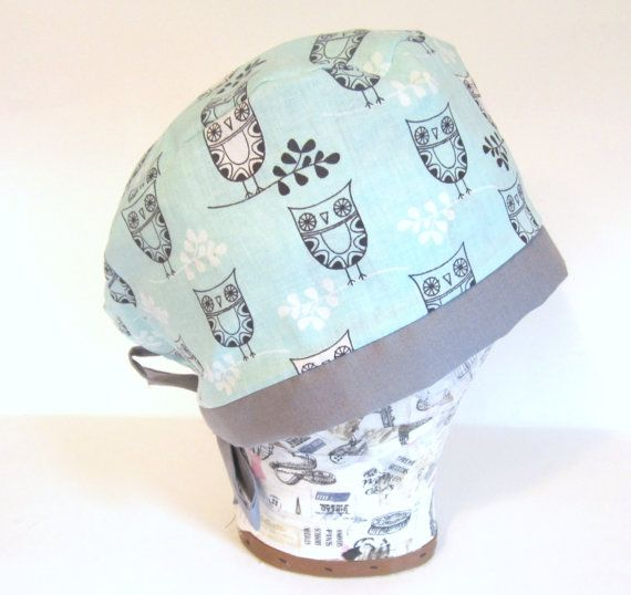 Hey, I found this really awesome Etsy listing at https://www.etsy.com/listing/247479348/owl-surgical-scrub-cap-surgical-scrub