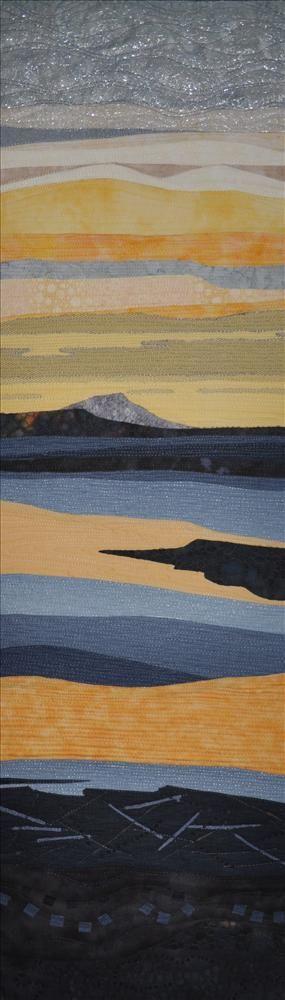 Sunset at Stein by Sheila Dagleish. Freewheeling – Textile Artists